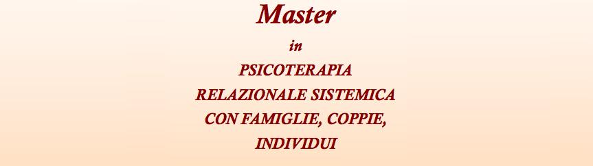 Master psicoterapia relazionale sistemica con famiglie, individui